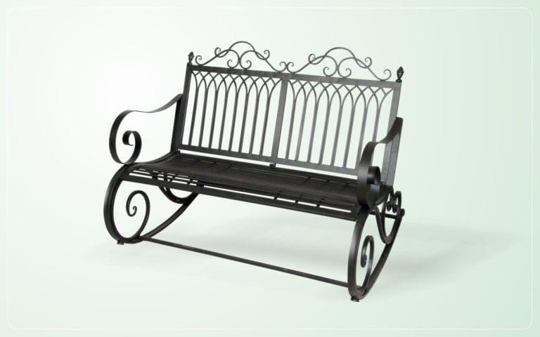 Double Rocking Chair Garden Souq